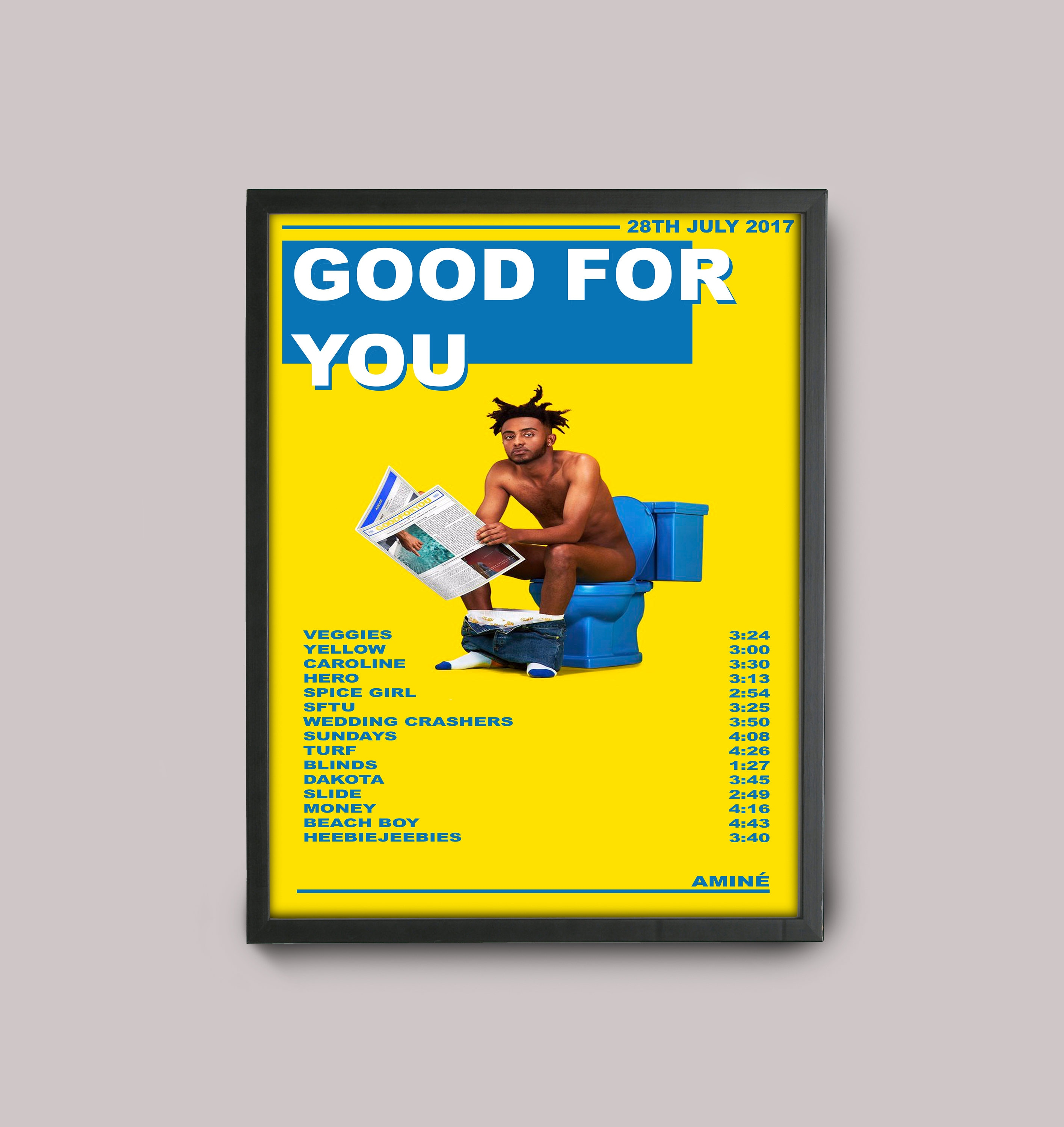 Amine Good For You Custom Music Poster // A3 Album Art // Wall | Etsy