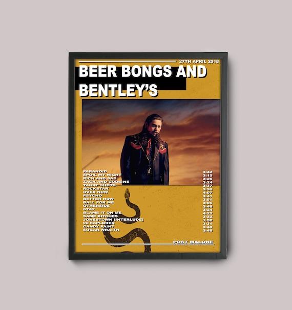 post malone custom music poster / beer bongs and bentleys // | etsy