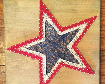 Patriotic Star Red White and Blue