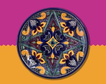 Symmetric Talaveras colourful decorative plate