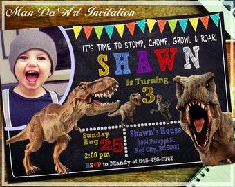 Dinosaurs InvitationDinosaurs PrintableDinosaurs BirthdayDinosaurs ChalkboardDinosaurs Photo InvitationJurassic World Invitation 102