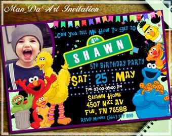 Sesame Street Invitation.Sesame Street Printable.Sesame Street Birthday.Elmo Invitation.Sesame Street Photo Invitation.Sesame Street-101