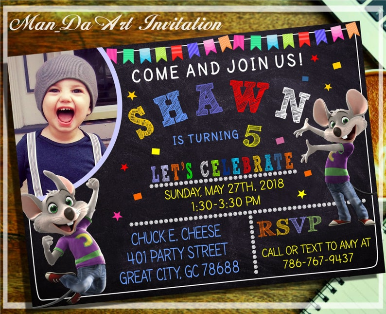 picture about Chuck E Cheese Printable Invitations called Chuck E Cheese Invitation.Chuck E Cheese Printable.Chuck E Cheese Birthday.Chuck E Cheese Picture Invitation. Chuck E Cheese Chalkboard-101