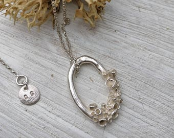 Large Lichen Loop Necklace - Polished