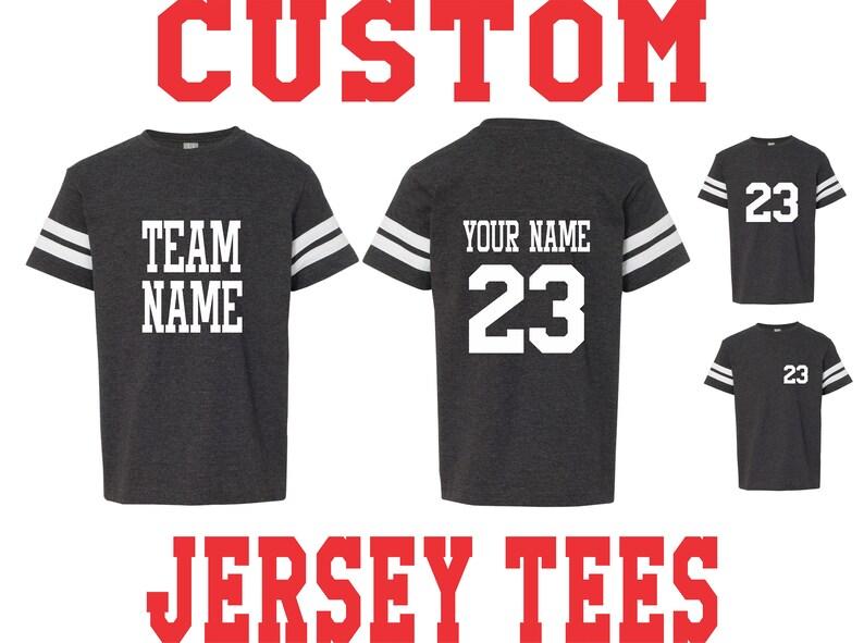 b75920dbe9c YOUTH CUSTOM JERSEY T Shirt Tee Kids Toddler Child Name Number