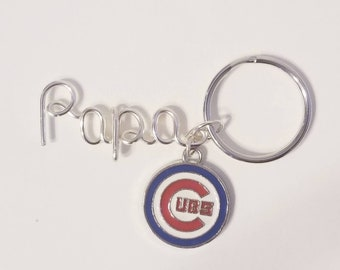 Chicago Cubs Name Keychain, Chicago Cubs keychain, Cubs keychain, Custom name Keychain, Personalized Name Gifts, Chicago Cubs gifts
