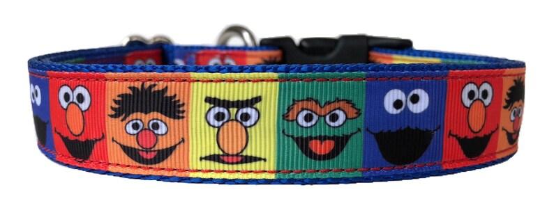 Sesame Street Ribbon Dog Collar | Etsy