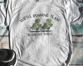 65178fd79 Turtle Running Team shirt, Marathon Shirts, Team Running Shirts, Funny Shirt