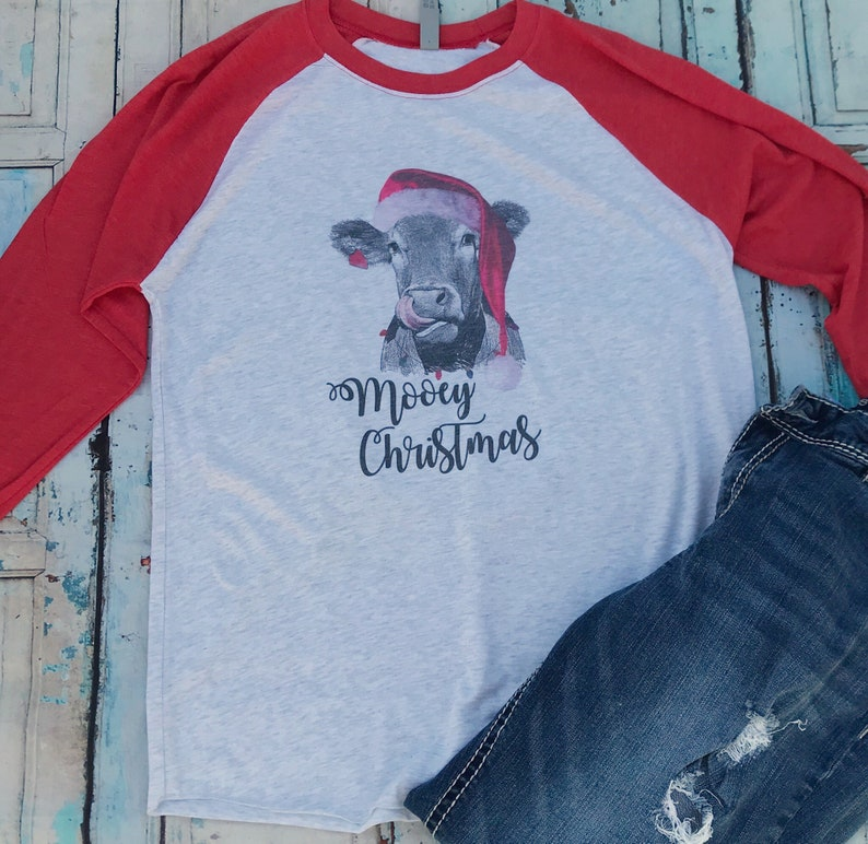 bb02538d Mooey Christmas Christmas cow shirt funny Christmas shirt | Etsy