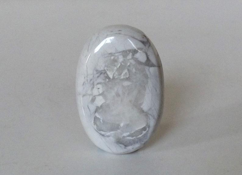 Howlite Cabochon White Howlite Oval Shape Semi-precious Cabochon White Natural Cabochon