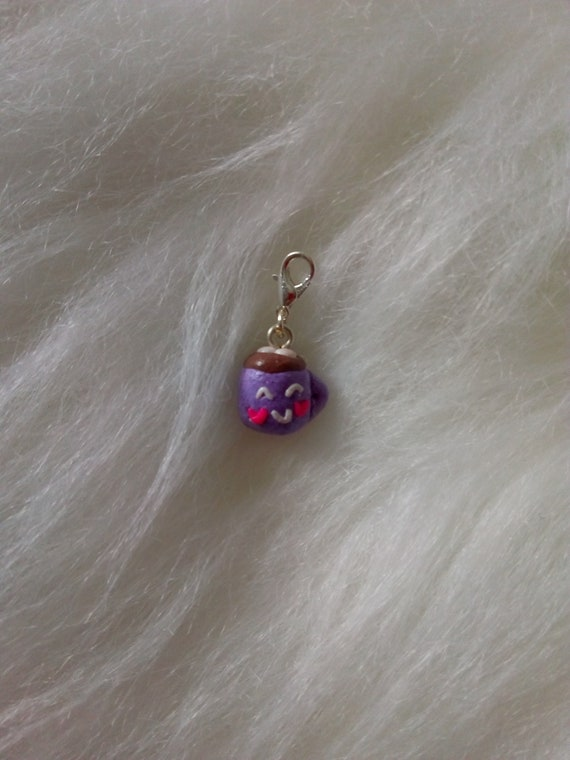 4 Mermaid scale purple charms antique silver tone FF350