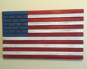 Tin Star American Flag