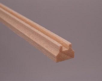 Wholesale Staircase accessories Dollhouse miniature wood trim line molding white
