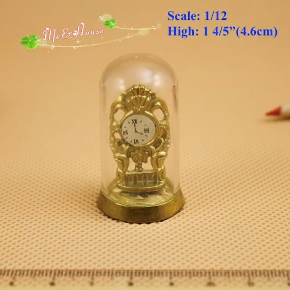 1:12 Scale Non Working Dome Clock Dolls House Miniature Accessory