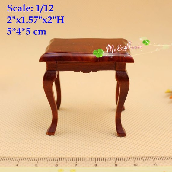 2 Bedstand A 1 Stool 1:12 Dollhouse Miniature Furniture 4Pc Set 1 Double Bed