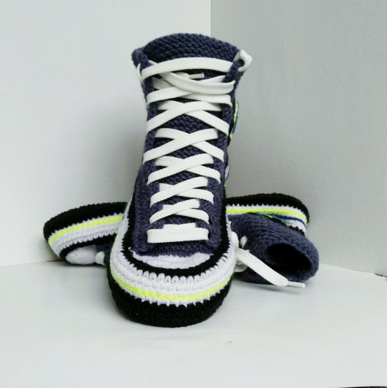 9a95f87a4712 Knitted converse slippers 38 Socks slippers House knitted shoe