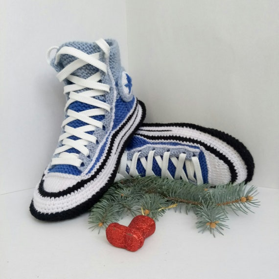 ab76bbe724cbfc Knitted converse slippers Christmas present for girlfriend
