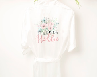 Personalised wedding robe,personalized robe,bridal party robe,bride,bridesmaid,maid of honour,wedding dressing gown,Any colour scheme,size