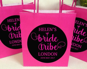 Personalised Bride tribe hen party favour bags,bachelorette party favour bags,bride tribe hen night  bags,hen night party bags 12 colors