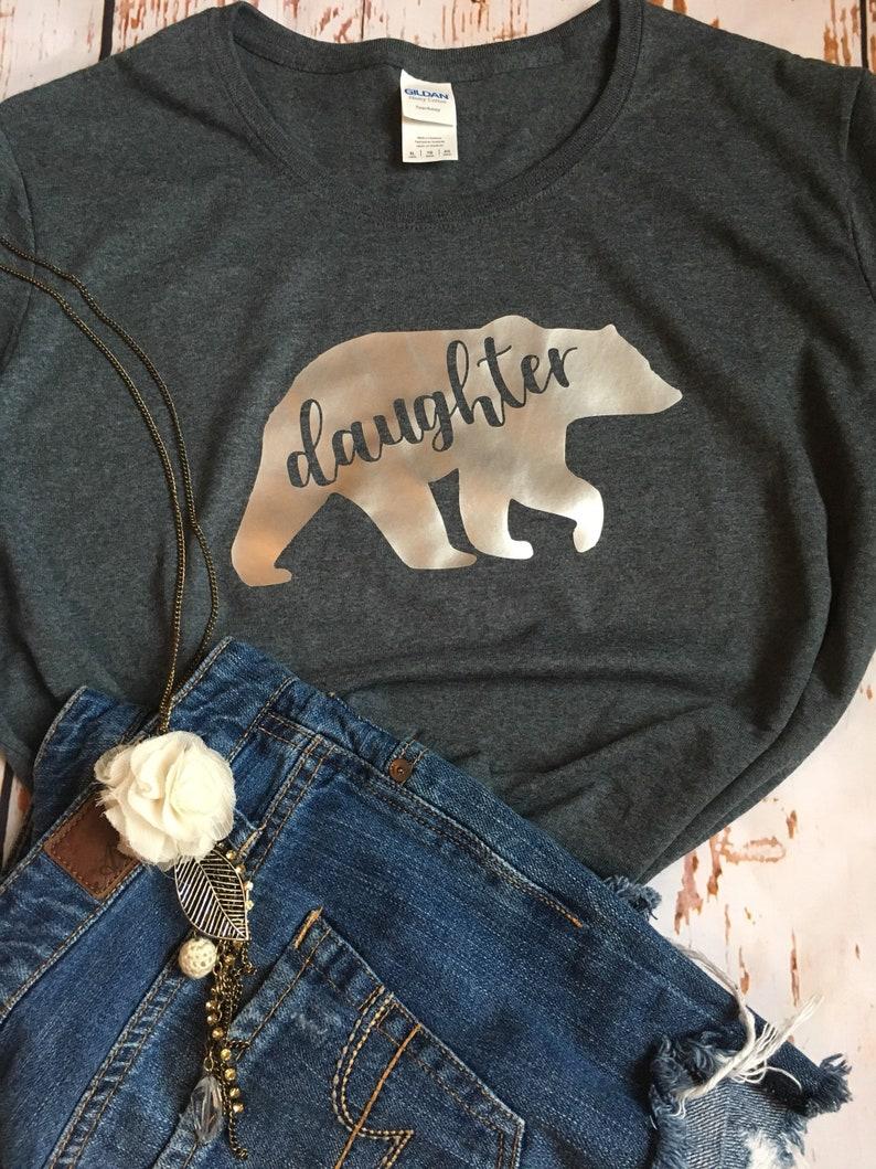 6cec6c74 Daughter Bear | Sister Bear | Mama Bear | Grandma Bear Shirt | mama Bear  shirt | customize womens shirt