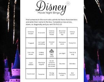 Disney Movie Night Bingo Game (8) Printable Cards