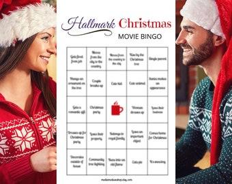 Hallmark Christmas Movie Bingo Game (8) Watch Party Night Printable