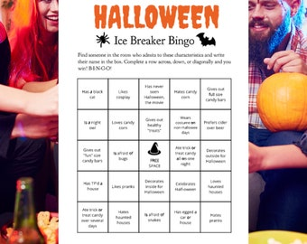 Halloween Ice Breaker for Adults Printable Party Game