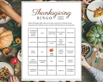 Thanksgiving Bingo Game Zoom Virtual Printable Friendsgiving (8)