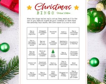 Christmas Bingo Game Zoom Virtual Printable (16)
