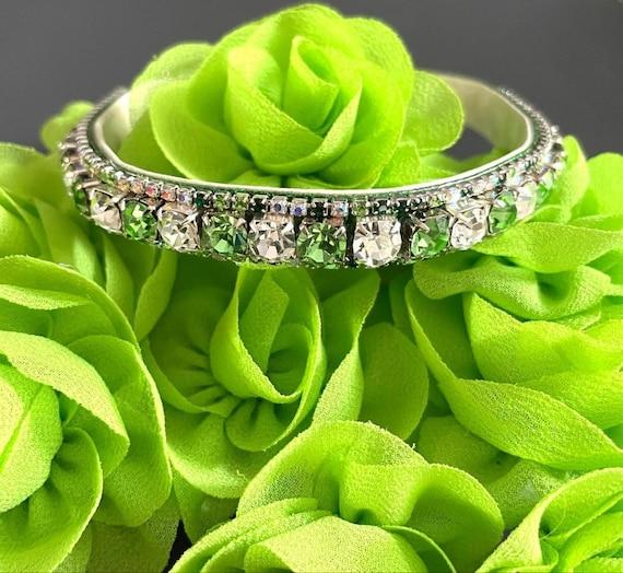 Peridot In a Diamond Glow ~Michael David Designs~  Crystal Rhinestone Bling Dog Cat Pet Green & Diamond Clear USA