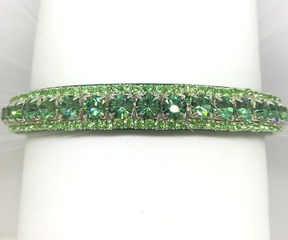 Goddess in Emerald Green~ Crystal Bling Rhinestone Pet Dog XXS thru 3XL Cat Safety Collar & Optional Leash Purchase  USA