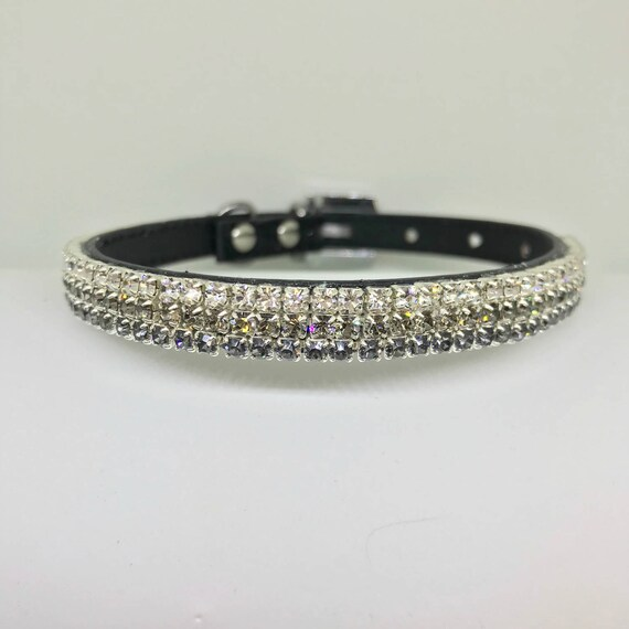 Bling  ~Diamond Nightfall~ Crystal Bling Rhinestone Pet Dog or Cat Safety Collar USA  XXS THROUGH 3XL