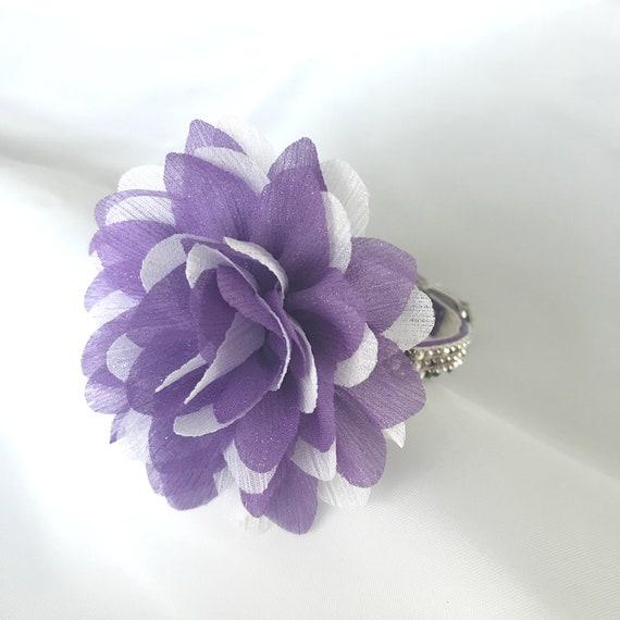 Fun Fetti in Amethyst Purple~ Flower Bling Rhinestone Pet Dog or Cat Safety Collar USA + Milk Bone Dog Treat!