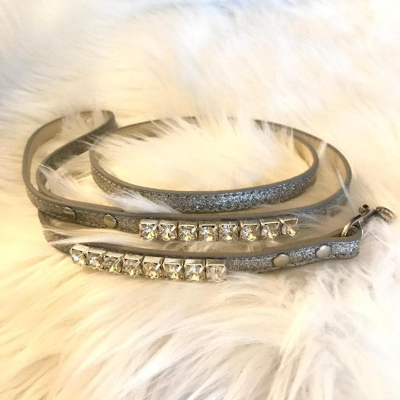 Bling  ~Diamond Nightfall~ Crystal Bling Rhinestone Pet Dog or Cat Safety Collar USA  XXS THROUGH 3XL