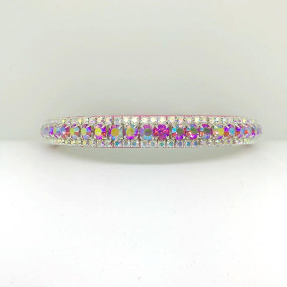 Crystal Bling Rhinestone Pet Girl Dog or Cat Safety Collar ~Pink Fairy on the Moon~ USA XXS THROUGH 2XL