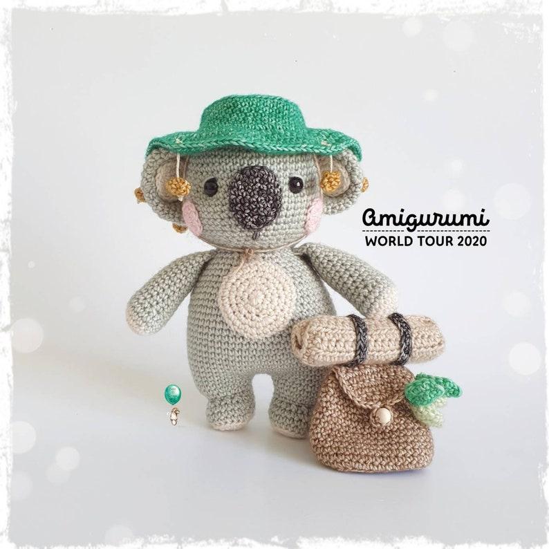 Clancy the Backpacker Koala Amigurumi crochet pattern image 0