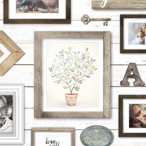 Personalized Family Tree Family Tree Print Family Tree Etsy