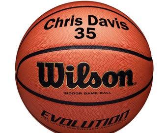 Size 7 WILSON Basketball England Evolution Original Tan//Black