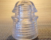 Pyrex Clear Glass Insulator Vintage Made in USA