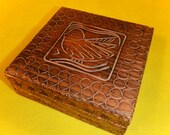 Wood Carved Trinket Box - Bird Design - Made in Poland - 65326