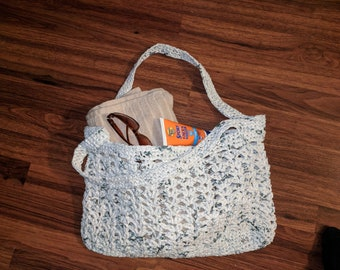 Over The Shoulder Upcycled Plarn Bag