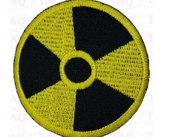 radioactive sign iron on patch embroidered applique