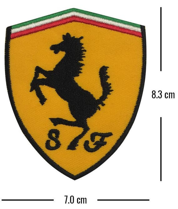 Ferrari Racing Logo Embroidered Iron-On Cloth Patch Shorts Badge