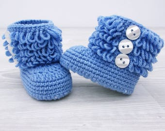 Crochet baby booties Baby shoes Baby boots New baby, Baby gift, Baby shoes boy, Baby boots boy, Shoes gift, Shoes newborn,