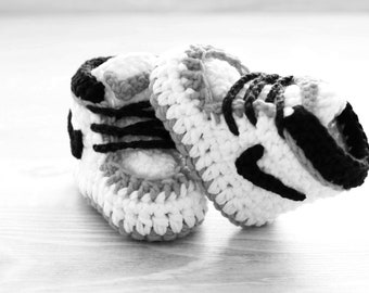 Baby Boy Moccasins, Baby Shoes Boy 0-3 Months Crochet Baby Shoes
