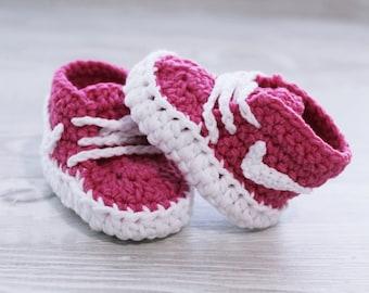 Light Pink Baby booties Handmade crochet