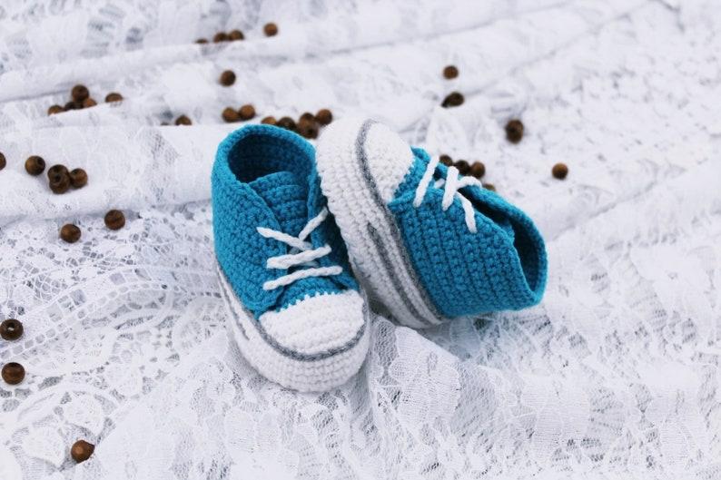 official photos da127 16c47 Gehäkelte Babyschuhe, blau Babyschuhe, Baby Babyschuhe häkeln, Foto Prop  Baby Säugling Neugeborenes Baby Schuhe Unisex Babyschuhe