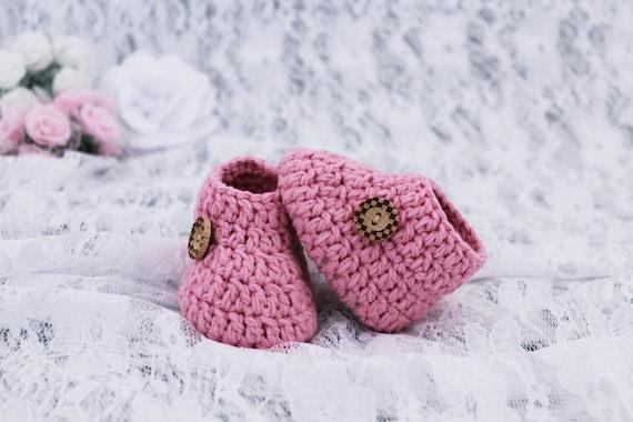 Häkeln Sie Baby Schuhe Rosa Baby Schuhe Neugeborene Baby Etsy
