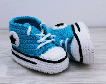 READY TO SHIP Crochet baby shoes Baby sneakers Baby booties Gift for baby Baby slippers Baby crochet shoes Baby shoes boy 0-3 months