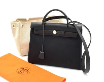 d487270d15a53 Authentic HERMES Toile Herbag PM 2 in 1 Bag
